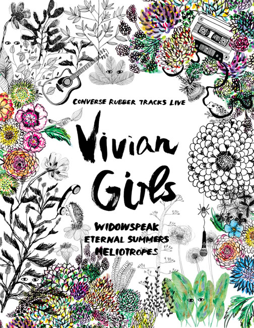 Vivian Girls concert poster
