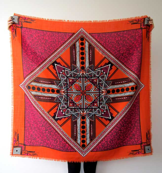 Scarf design for JOHN LAWRENCE SULLIVAN F/W10-11 collection