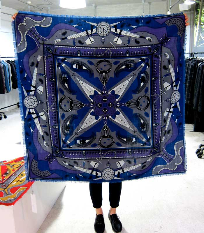 Scarf design for JOHN LAWRENCE SULLIVAN F/W11-12 collection
