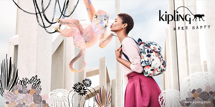Kipling Spring 2017 Campaign