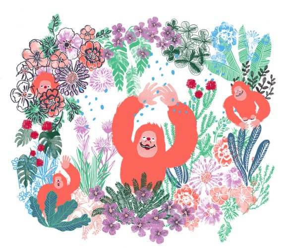 Kipling 30th Anniversary Illustration