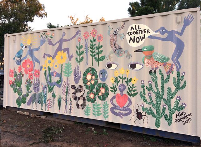 Container mural for Earthlab