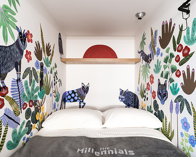 Mural for Hotel Millennials Shibuya